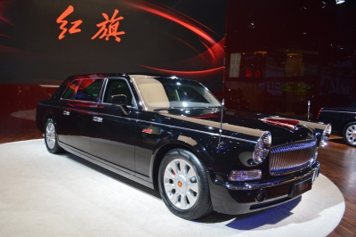 The most expensive Chinese car is a massive limousine with a retro look